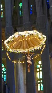 crucifix over altar
